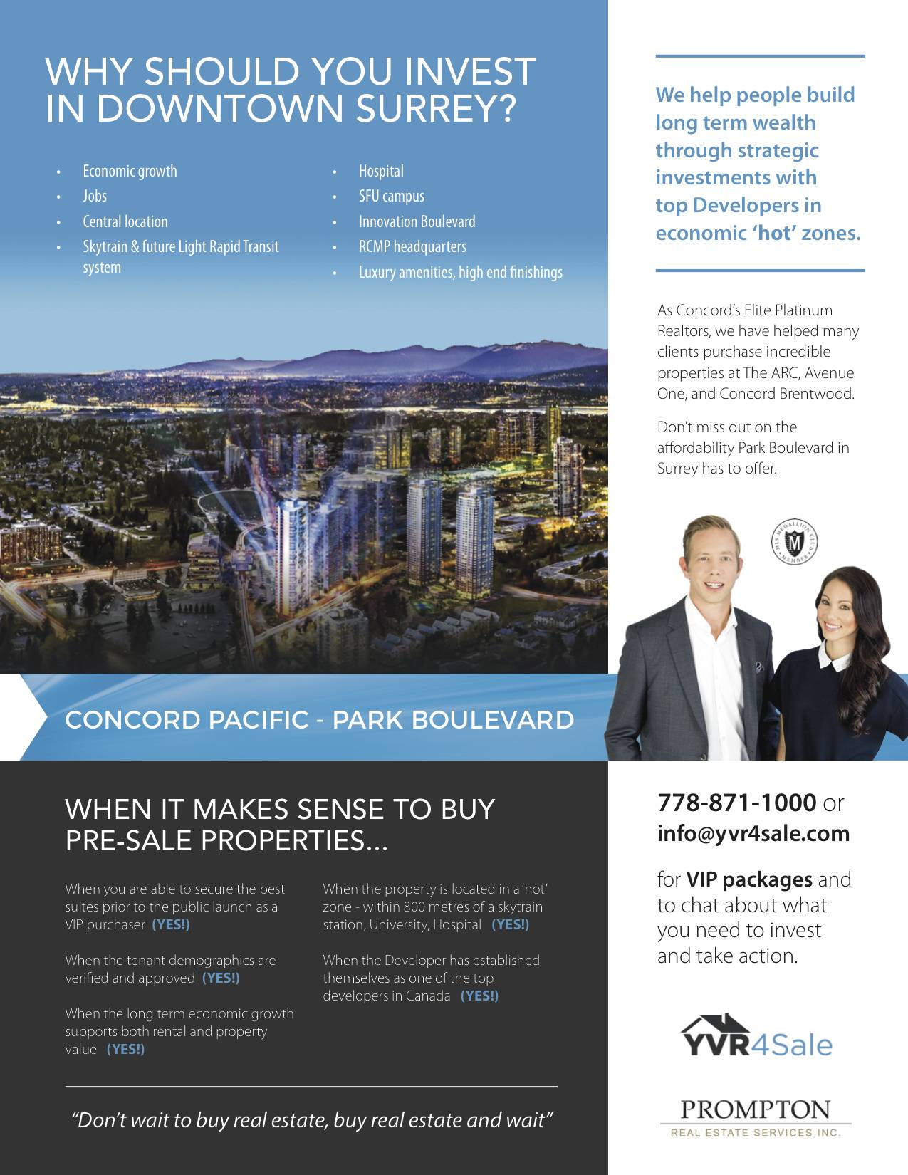 Concord Pacific, presale, new home development, surrey, downtown surrey, yvr4sale, amy leong, brian higgins